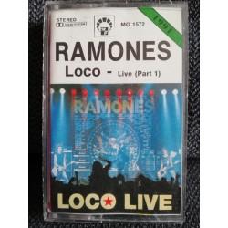 """RAMONES """"Loco Live"""" 2xCASS"""